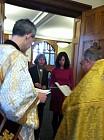 Catherine, sponsor Matushka Leslie Sochka with Protodeacon Michael Sochka and Father Daniel Skvir