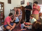 Fr. Daniel enjoys the toddlers