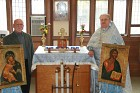 Candlestand and censor stand made for Chapel by founding OCF member Michael Danchak, Princeton '65 with Fr. Dan, PU '66, also a founder of Princeton OCF